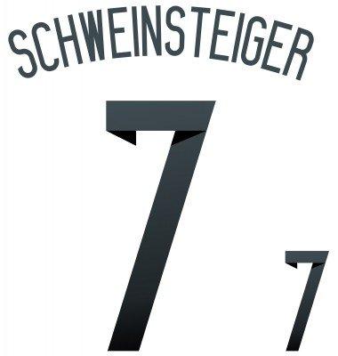 Original DFB Deutschland Home Trikot-Flock SCHWEINSTEIGER 7, Größe:Kinder