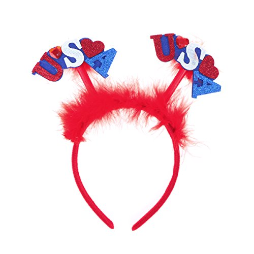 BESTOYARD American Flag Stirnband USA Unabhängigkeitstag Stirnband Headpiece Headwear für Kinder Party Dekoration (Usa Headwear)