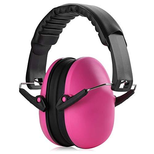 MEDca Gehörschutz Lärmschutz - Rosa Ohrenschützer für Geräuschunterdrückung und Sicherheit, für Kinder und Erwachsene zum Schießen, Jagen, Holzarbeiten, Schießstand, Mähen und mehr