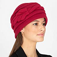 f769ff3a2c6dd7 RACEU ATELIER Red Downton Abbey Cloche Hat Wool Felt Knitted Retro 1920s  Style Lana - Retro