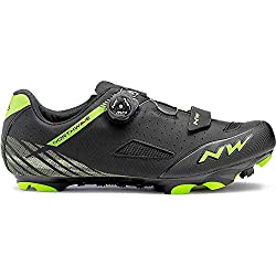 Northwave Origin Plus Bicycle Shoe Negro/Verde, Tamaño:gr. 44