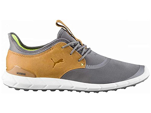 Puma IGNITE Spikeless Sport Herren Golfschuhe grau braun NEU, Größe:UK 9.5 | EUR 44 | US 10.5 | CM 28.5