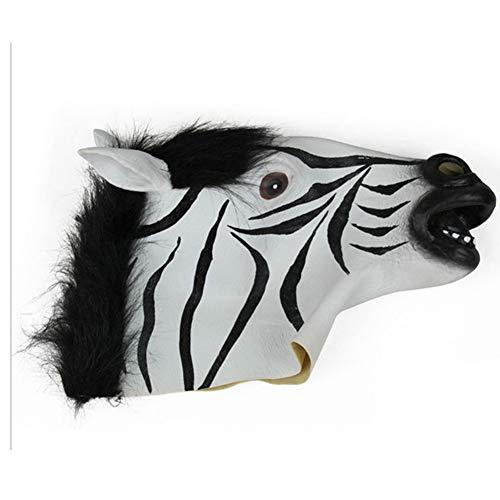 Zebra Kopf Kostüm - DIMOWANNGG Halloween Zebra Kopf Maske, Halloween/Kostümparty/Karneval Kostüm Requisiten Maske,Horror lustige Maske
