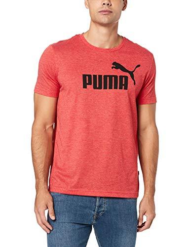 Puma Herren ESS Tee T-Shirt, High Risk Red Heather, L - Puma Herren Raglan