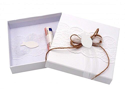 Geldgeschenk Verpackung Kommunion Konfirmation Taufe Fisch Weiß
