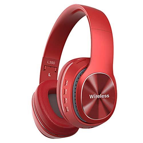 Yowablo Kabelloses Headset Bluetooth 4.1 Stereo OverEar Faltbare Kopfhörer Eingebautes Mikrofon(rot)