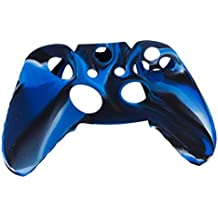 Generic Camo Soft Silicone Protective Skin Case Cover for XBOX ONE Game Controller--Navy with Black