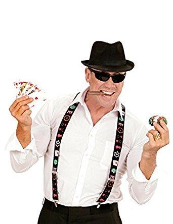 Widmann wdm00598–Kostüm für Erwachsene Hosenträger Poker, mehrfarbig, ()