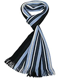 Lovarzi Men's Striped Scarf - Stay warm in this finest quality knitted winter scarf