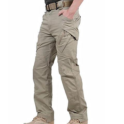 Reebow gear homme combat tactiques militaer outdoor sports pantalon de combat sans ceinture 42 Marron - kaki