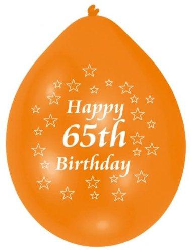 Amscan 22.8cm Happy 65th cumpleaños 10globos de látex