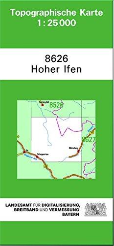 TK25 8626 Hoher Ifen: Topographische Karte 1:25000 (TK25 Topographische Karte 1:25000 Bayern)