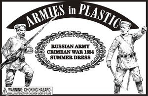 1/32ARMIES EN PLASTIC 5582GUERRA CRIMEA RUSIA EJERCITO EN VERANO ROPA