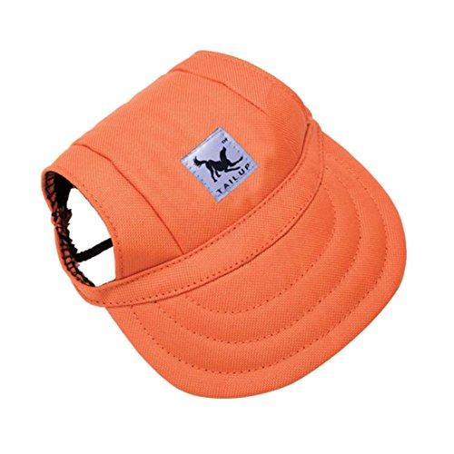 Baseball-hüte Deckel (LHWY Kleine Haustier Hund Baseball Mütze Sommer Visier Hut Welpen Outdoor Deckel Leinwand Camouflage Druck (S, D))