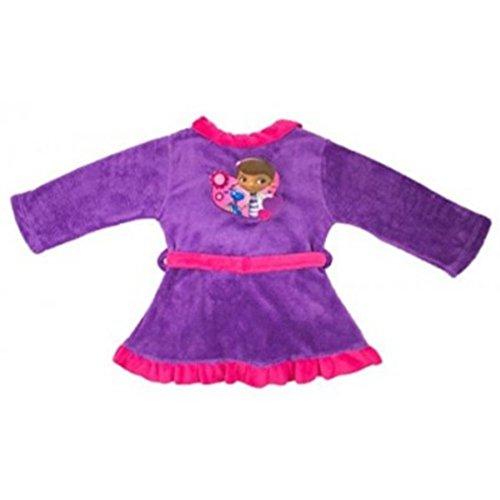 Kleid Zimmer-/Bademantel Violett/Fuchsia aus Coral Fleece Bedruckt mit dem Bild von Doc McStuffins-docteur die Plüsch für Mädchen 6/7Jahre 116-122100% Polyester (Doc Mcstuffins Mädchen Kleider)