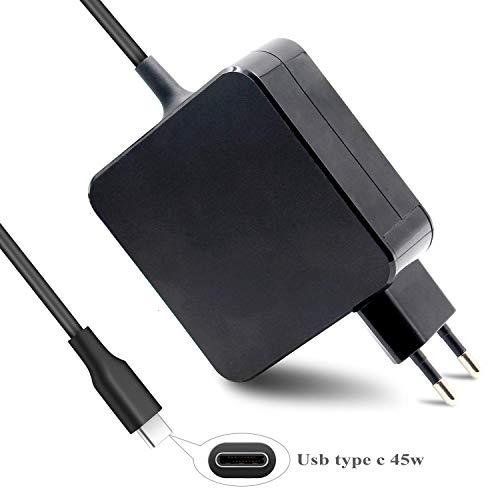DTK 45W USB-C Tipo C Cargador Nuevo Macbook Pro HP