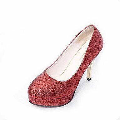 WSX&PLM Da donna-Tacchi-Casual-Comoda-A stiletto-Lustrini-Nero Rosa Rosso Argento sliver