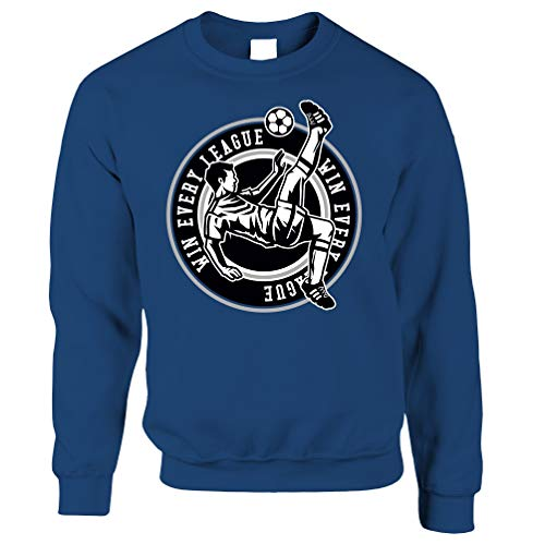 Tim And Ted Fußball Unisex-Pullover Win The League Motivation Royal Blue X-Large -