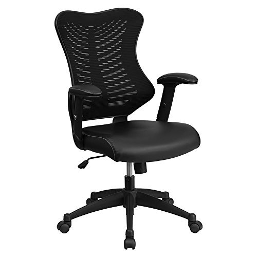 flash-furniture-high-back-black-mesh-chair-with-leather-seat-and-nylon-base-by-flash-furniture