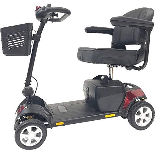 Scooter per Anziani o Disabili Elettrico, Compatto Smontabile con Ammortizzatori. Pix