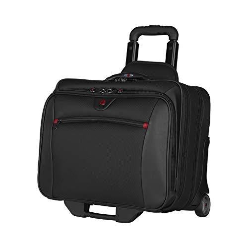 """Wenger 600661 POTOMAC 17\"""" 2-Stück Aktuelle Laptop-Aktentasche, Gepolstertes Laptopfach mit passendem 15.4\"""" Laptoptasche in Schwarz {23 Litres}"""