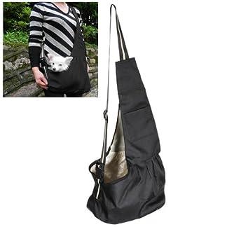 ELEGIANT Black Oxford Cloth Sling Pet Dog Cat Carrier Bag 41bjy 2Bz3MOL