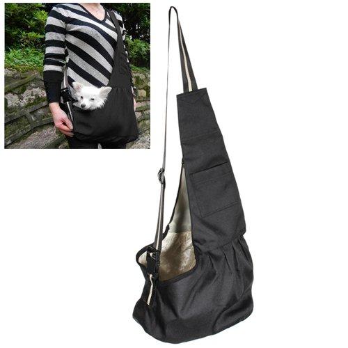 Medium Size Black Oxford Cloth Sling Pet Dog Cat Carrier Bag Test