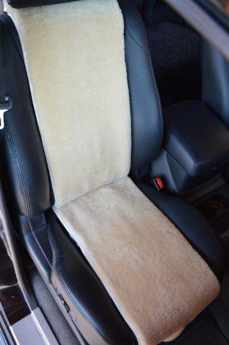 Preisvergleich Produktbild Autositz-Auflage / Autofell aus Lammfell 30cm Breite x 138cm Länge (Sekt) Direkt vom Hersteller