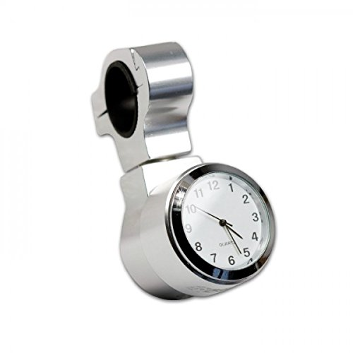 Lenkeruhr Quartzuhr für Motorradlenker Alu/Silber, Schock-und Wasseresistent