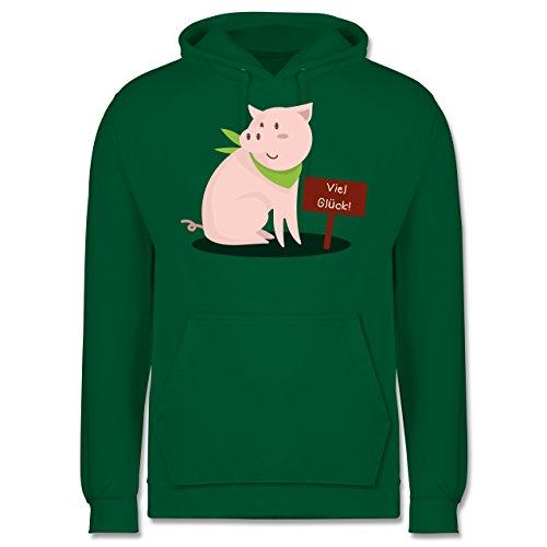 Sonstige Tiere - Glücksschweinchen - Männer Premium Kapuzenpullover / Hoodie Grün
