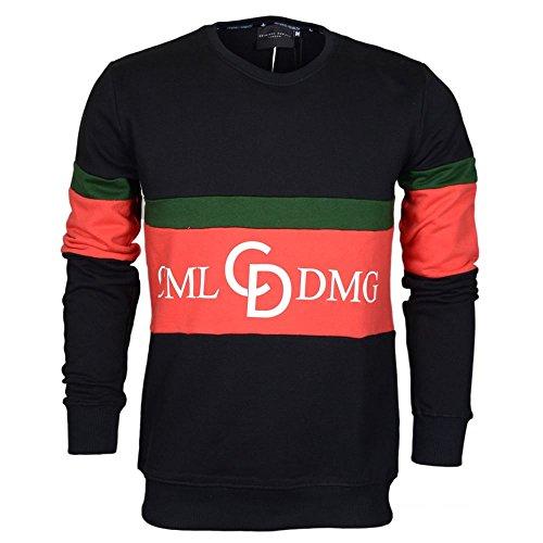 Criminal Damage Herren Sweatshirt schwarz/weiß Gr. Large, schwarz/weiß