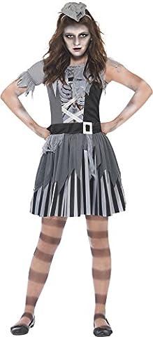 Smiffys, Kinder Mädchen Geisterschiff Piratin Kostüm, Kleid und Minihut, Größe: L, 20781 (Piraten-mädchen-kostüm Uk)