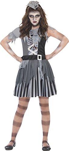 Smiffys, Kinder Mädchen Geisterschiff Piratin Kostüm, Kleid und Minihut, Größe: L, - Geisterschiff Pirat Kind Kostüm