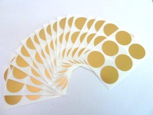 Etiketten, rund, selbstklebend, matt, 25mm, Goldfarben, 102Stück