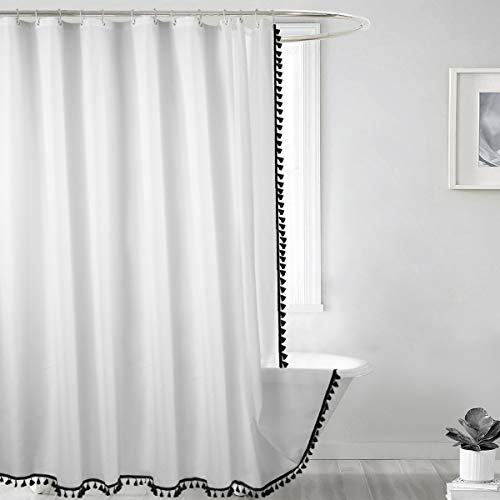 Seavish Stoff-Duschvorhang, wasserabweisend, mit 12 Kunststoff-Haken, Set 72
