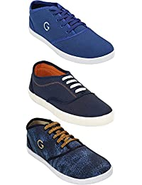 Globalite Shoe For Men Stylish Casual Combo Shoes For Boys (Combo Of 3 Shoes) - B07DTD2RVH