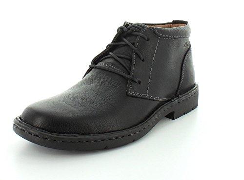 Clarks Stratton Grenze Chukka-Stiefel Black Leather