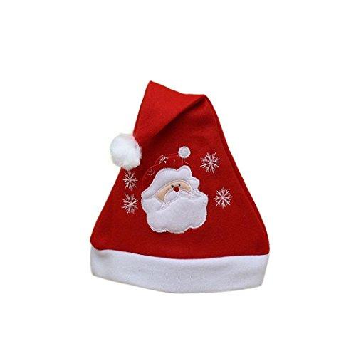 Preisvergleich Produktbild URIBAKY Unisex Erwachsene Weihnachten Rot Deckel Unisex Erwachsene Weihnachten Rot Deckel Weihnachtsmann Neuheit Hut Zum Weihnachten Party (Rota)