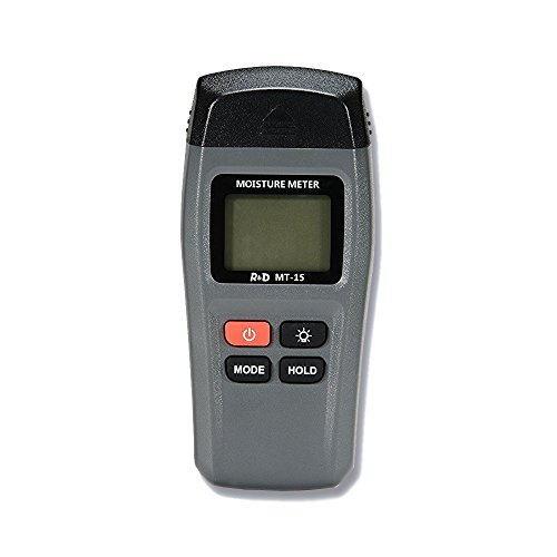 Feuchtigkeitsmessgeräte LCD Digital Holzfeuchtemessgerät Tragerbar Brennholzholz Feuchtigkeits-Detector mit LCD-Anzeige, 1%~ 99% Messbereich, 4 AAA Batterie Enthalten für Feuchtemessung wie Wände, Brennholz, Holz, Estrich, Beton und weitere Baumaterialien
