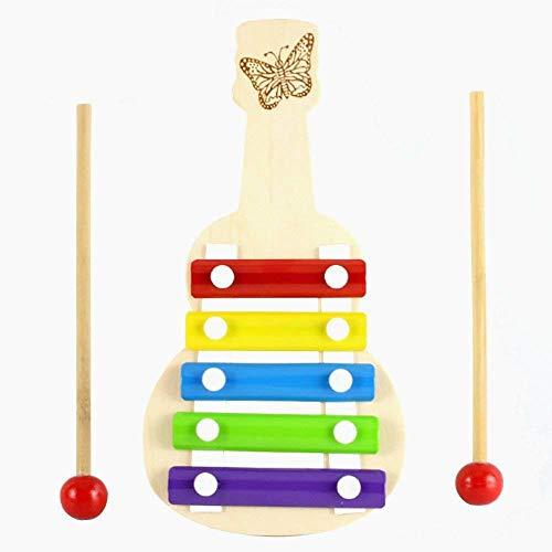 Snner Holz Xylophon für Kinder, besten Urlaub / Geburtstag DIY Geschenk-Idee für Ihre Mini Musiker, Musikspielzeug mit Kindersicherung Schlägel, perfekt aufeinander abgestimmtes Instrument für Kleinkinder, Musikkarten und Harmonica inklusive