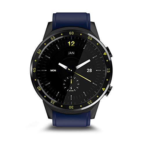 P12cheng Gesundheits- und Fitness-Smartwatch, Fitness-Aktivitätstracker, F1 Bluetooth, GPS, Herzfrequenz-SIM-Support, Sport-Smartwatch für Android iOS, Rot blau