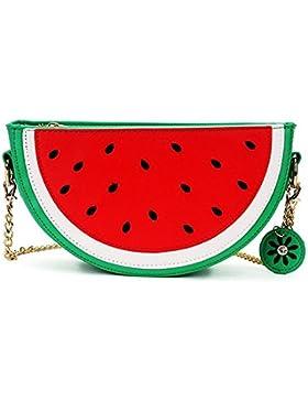 Neueste Cute Lovely Wassermelone Zitrone Shaped Schulter Messenger Bag für Mädchen und Frauen