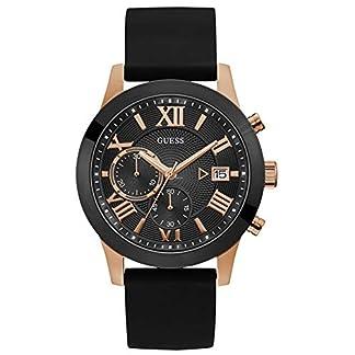 Guess Reloj Analógico para Hombre de Cuarzo con Correa en Caucho W1055G3