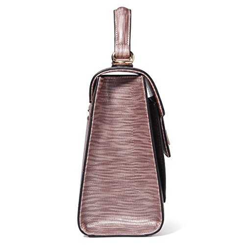 Kadell Borse in pelle donna Annata Sacchetto di spalla della borsa di Tote Satchel per le signore Bronzo viola Bronzo viola