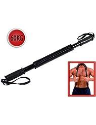 Vetrineinrete® Power twister manubrio flessibile a molla barra di potenza per sport palestra allenamento pettorali e braccia body building 60 kg F3