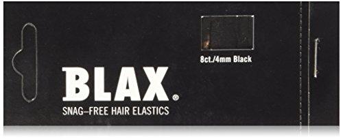 Blax Snag-Free Hair Elastics Haargummi 8 Stück Schwarz -