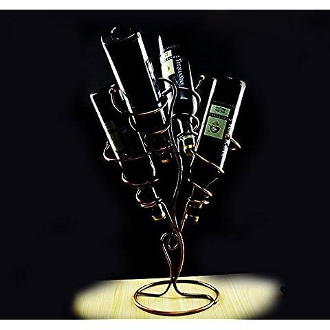 WXX Ornamenti di bronzo di vino wine bottle rack grande