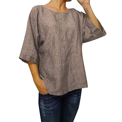 BOLANQ Damen Sommer Polka Dot ÄRmellos V-Ausschnitt Tunika Shirt Tops Bluse