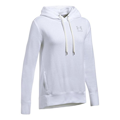 Split Fleece Hoody (Under Armour Damen Fav PO linken Brust Fleece XL White/Elemental)