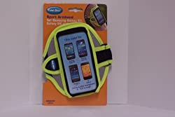 Armband for Samsung Galaxy S4, Galaxy S3, iPhone 6 (4.7) - Also fits HTC One (M7), Moto X and more - Reflective Day Glow Yellow